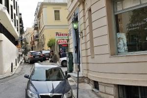 Straße in Athen, Griechenland