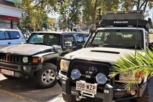 Hummer and Landcruiser