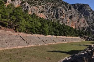 Ancient stadium in Delphi, Greece