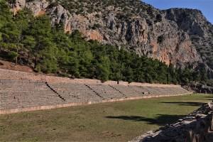 Antikes Stadion in Delphi, Griechenland