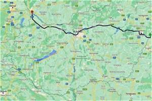 Meine Route durch Ungarn