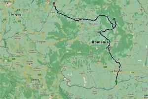 My route through Romania