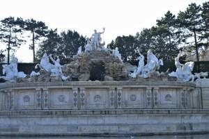Neptun Brunnen Schloss Schönbrunn Wien, Österreich