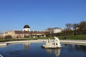 Im Garten von Schloss Belvedere Wien, Österreich