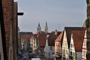 Blick von der Stadtmauer Rothenburg ob der Tauber, Deutschland
