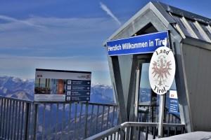 Deutsch-österreichische Grenze auf der Zugspitze