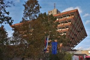 Gebäude des Slowakischen Rundfunks Bratislava, Slowakei