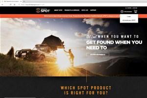 Website findmespot.com Aktivierung