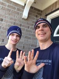 Ryan and I after our 14.5-mile run April 2