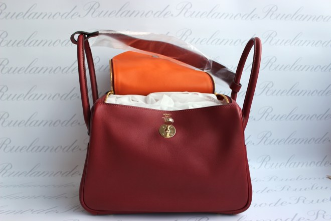 Hermes Lindy 26 Rouge Grenate Orange poppy GHW