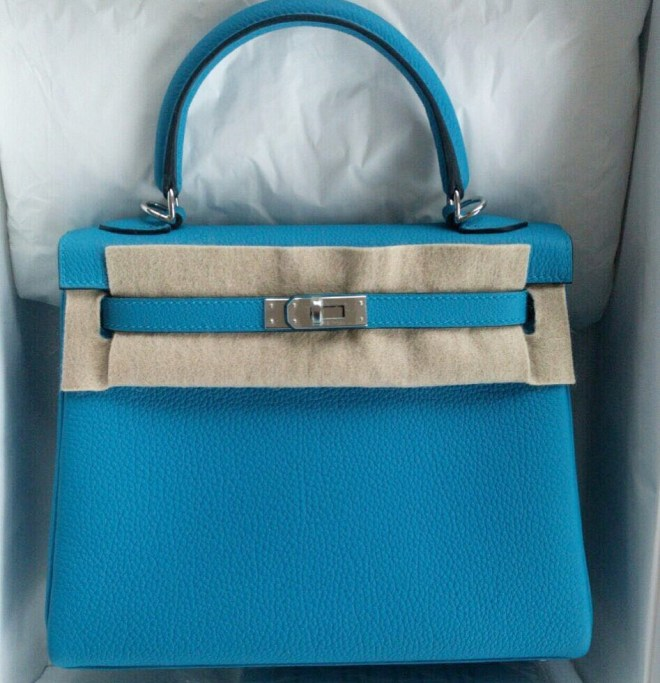 Hermes kelly 25 Blue Zanzibar Togo PHW.JPG