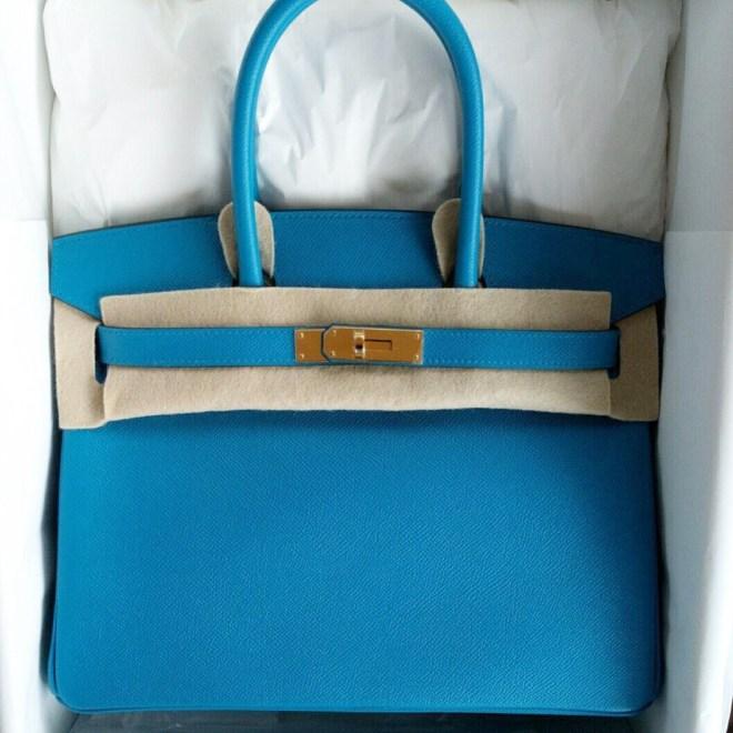 06474979320 Brand New Hermes Birkin 30 Blue Zanzibar Epsom GHW SOLD – Ruelamode
