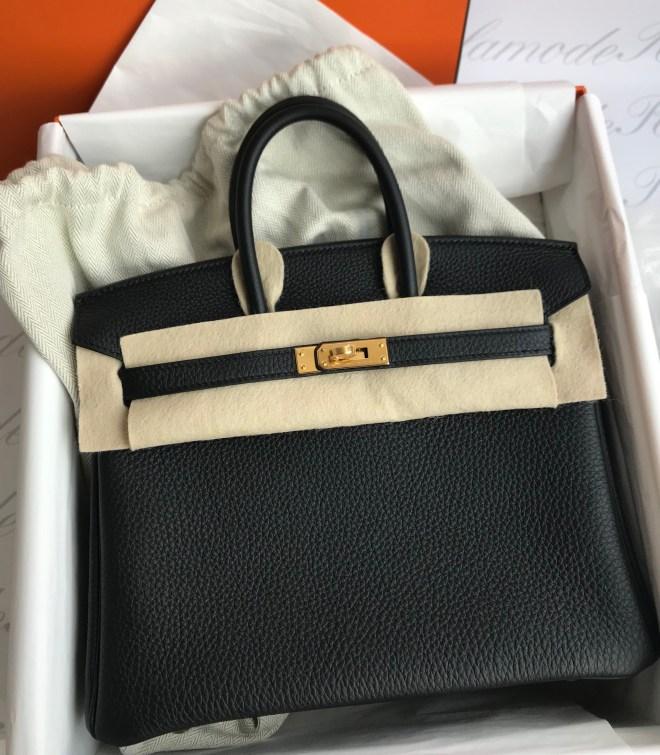 baba09ad001 Brand new Hermes Birkin 25 Black Togo GHW SOLD – Ruelamode
