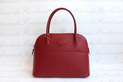 Preloved Hermes Bolide 27 Rouge Grenate Epsom PHW S 6300 5302eef7b6566