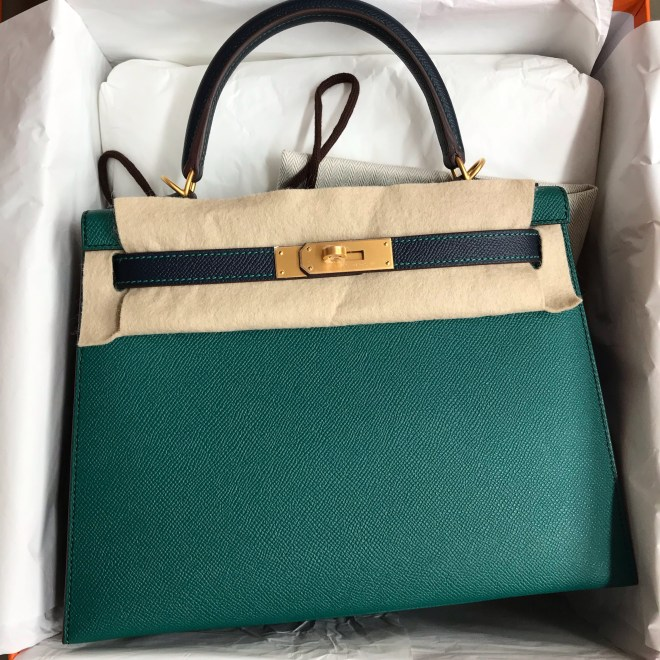 hermes Kelly 28 Malachite blue nuit.JPG