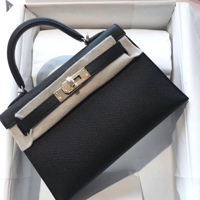 Hermes Kelly 20 Black epsom PHW.JPG
