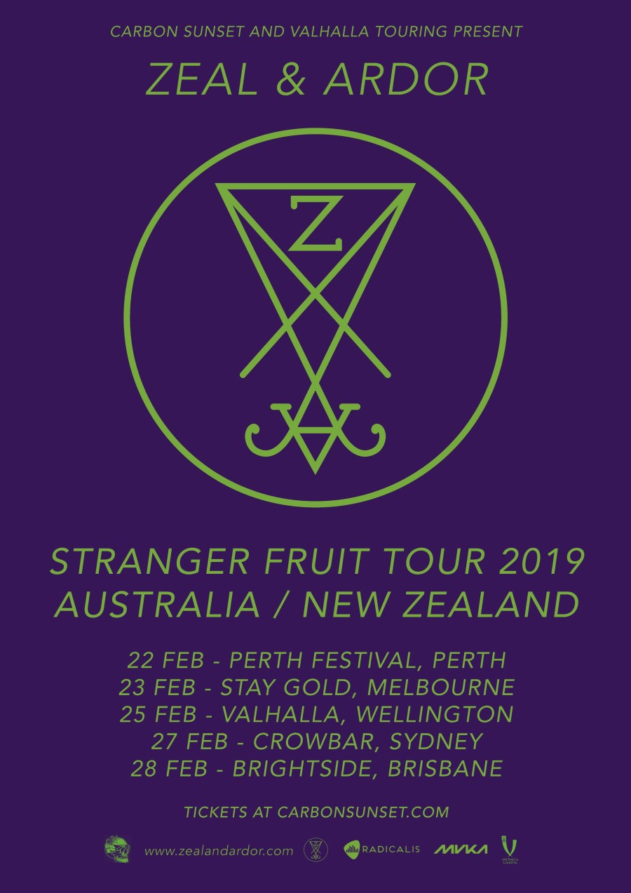Zeal And Ardor Australian Tour
