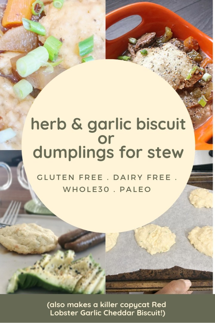 Gluten Free Herb & Garlic Dumplings for Stew (Plus a Bonus Copycat Red Lobster Herb & Garlic Drop Biscuit Recipe)