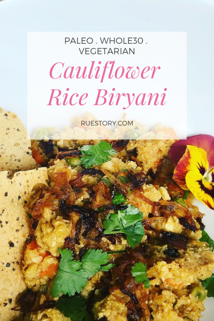 "Cauliflower Rice ""Biryani"""