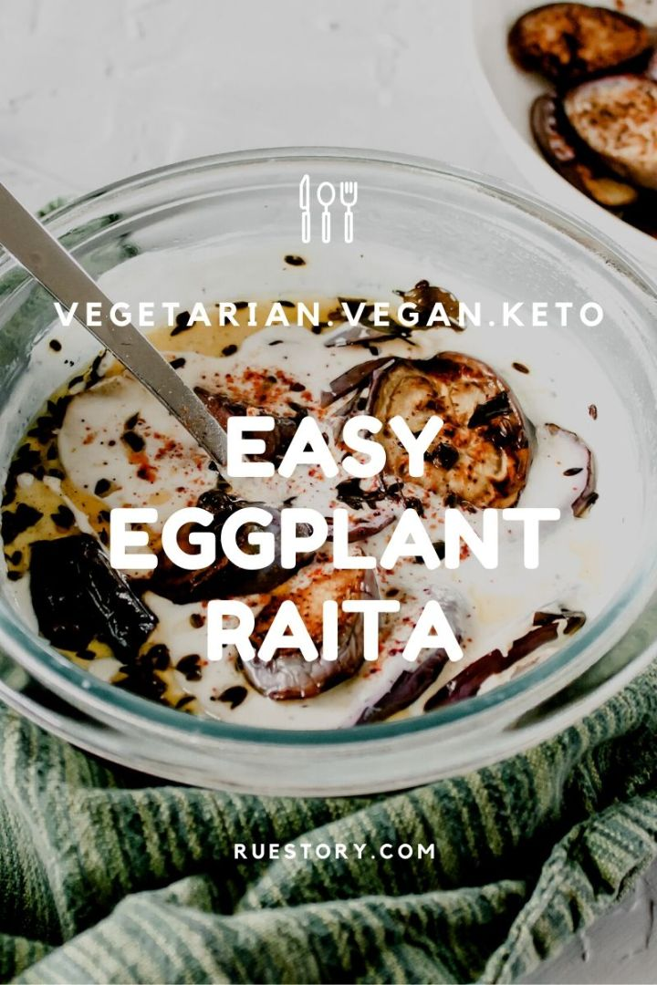 Easy Eggplant Raita