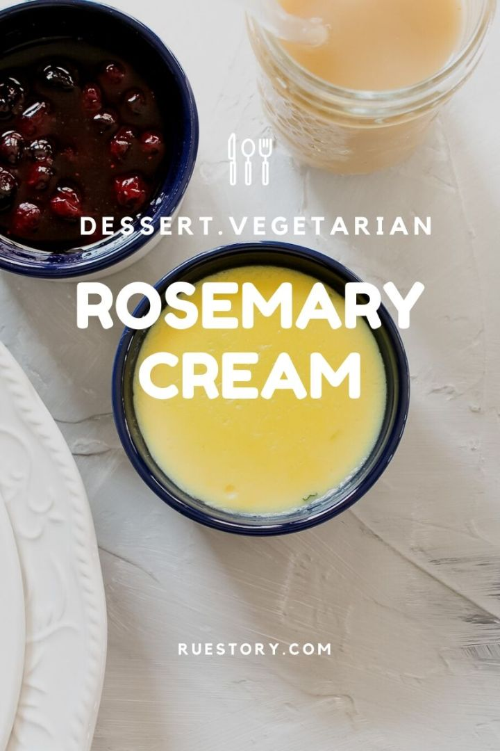 Rosemary Custard Cream Sauce