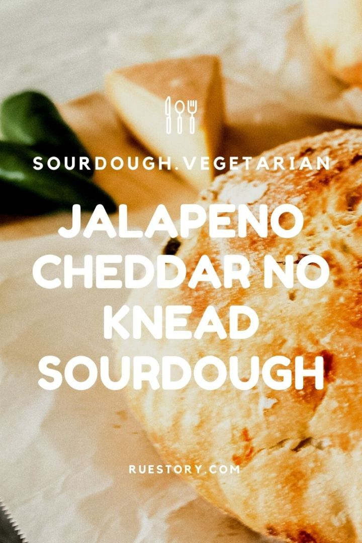Jalapeño Cheddar No Knead Sourdough Bread (Beginner Friendly)