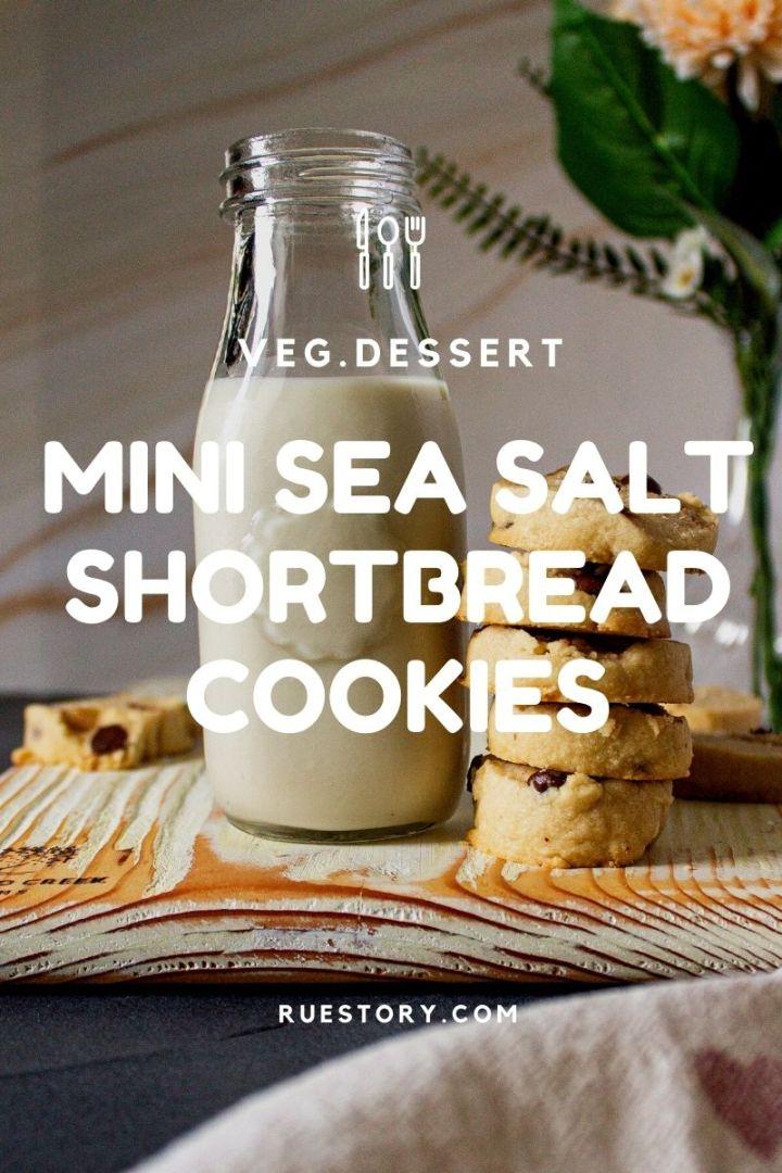 Mini Shortbread Cookies with Sea Salt
