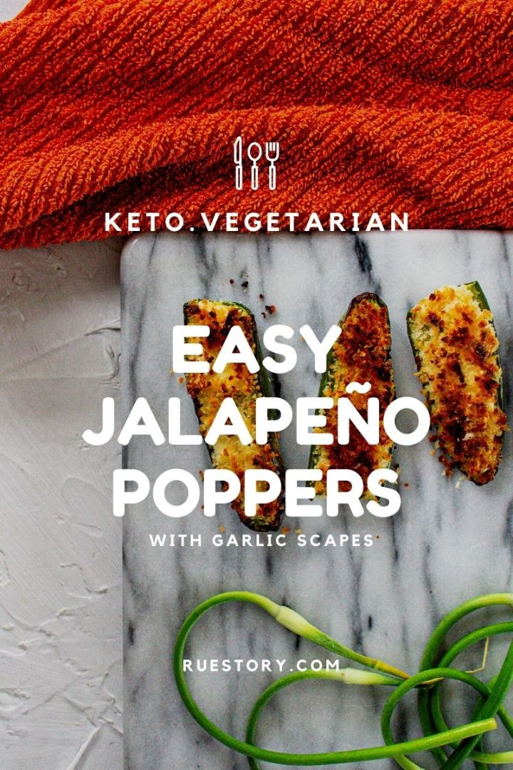 Jalapeño Poppers with Garlic Scapes – Air Frier or Oven Baked (Keto, Veg, Paleo Friendly)