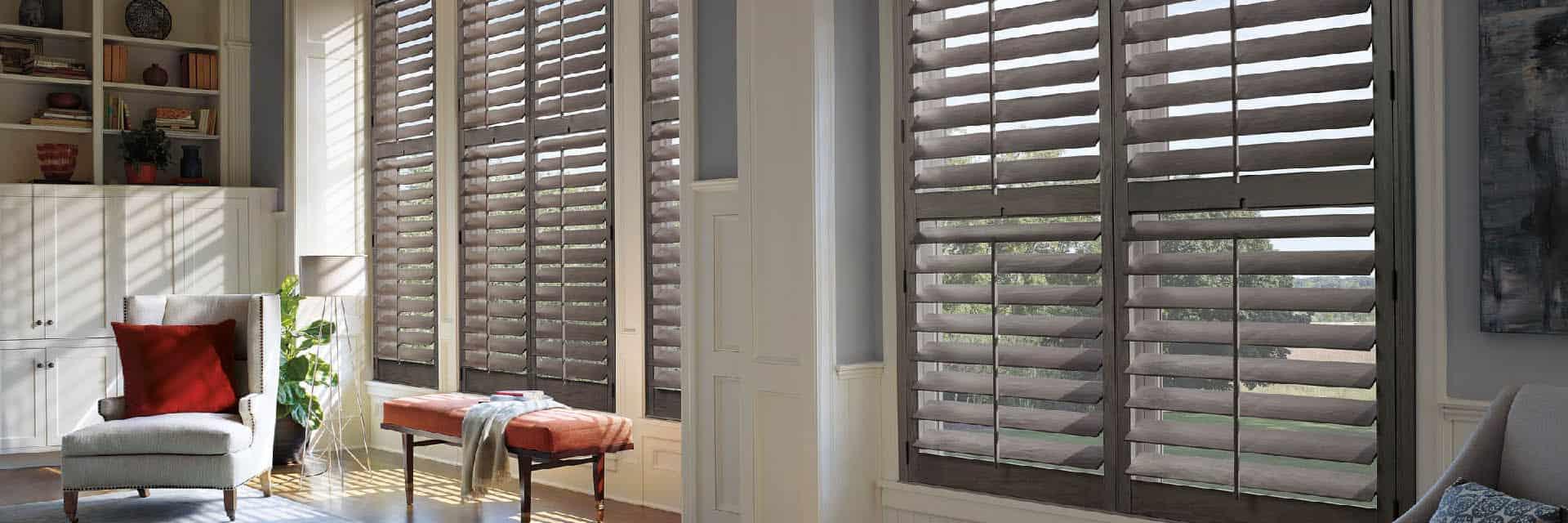 Wood Shutters Ruffell Brown Window Fashions