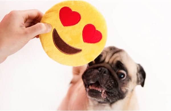 emoji heart toy