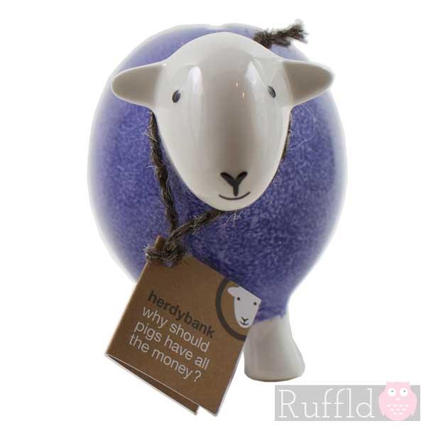 Sheep Money Box In Purple