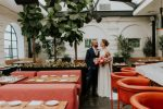 Intimate Garden Wedding in Downtown LA with Vibrant Colors