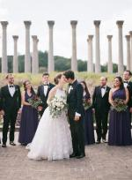 Purple and Green National Arboretum Wedding in DC
