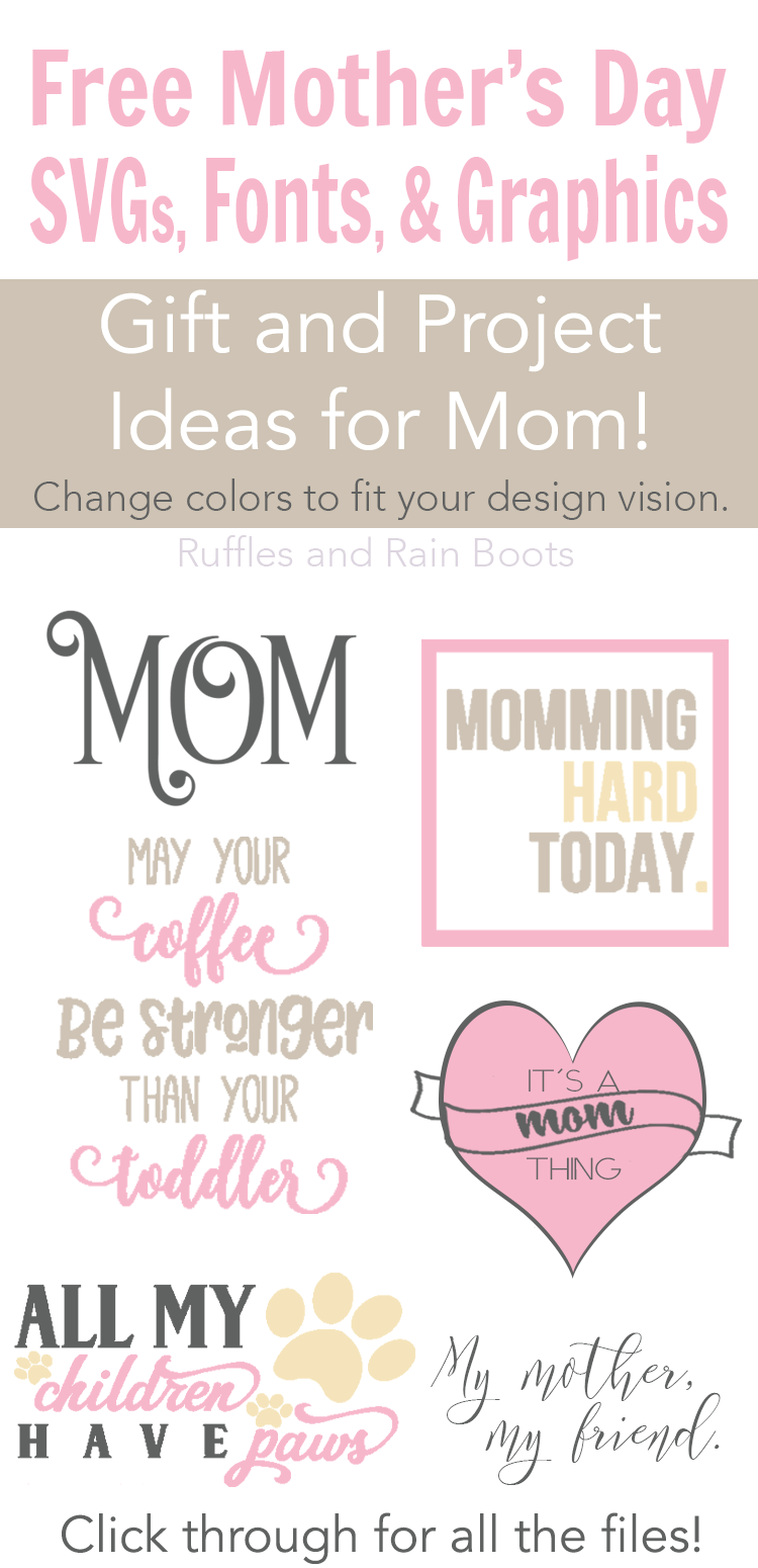 Mother's Day Svg : mother's, Mother's, Files,, Fonts,, Graphics