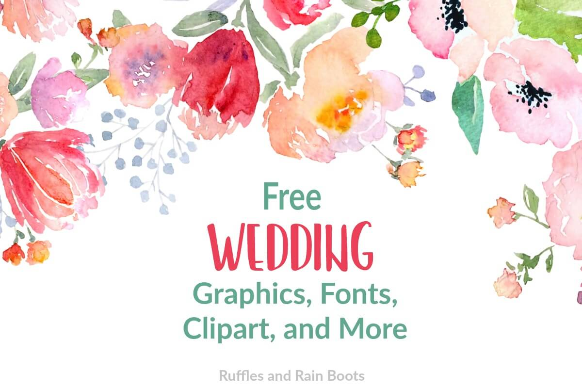 free wedding svgs fonts and clipart