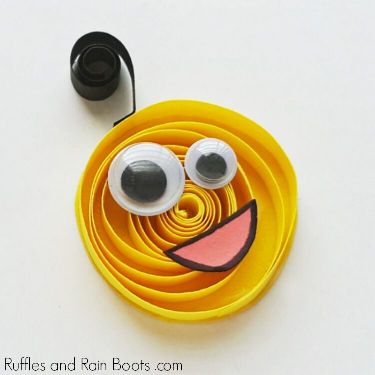 Quilled Monster Craft For Kids An Easy Paper Quilling Craft