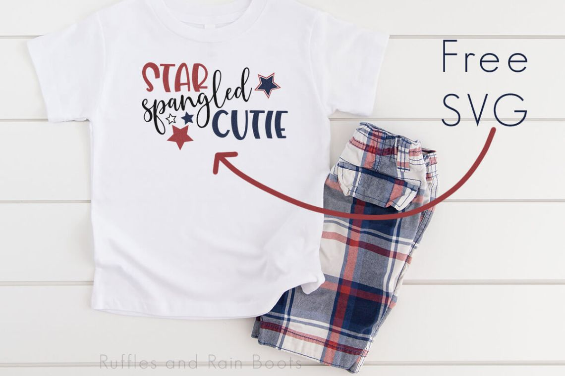 Download Adorable and Free Star Spangled Cutie Patriotic SVG for ...