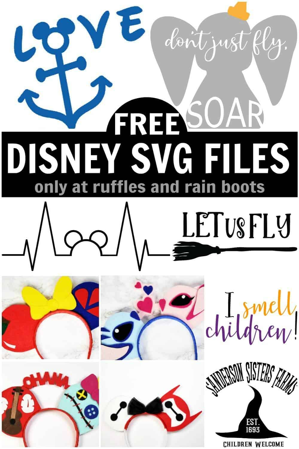 Free Disney Svg Files On Ruffles And Rain Boots