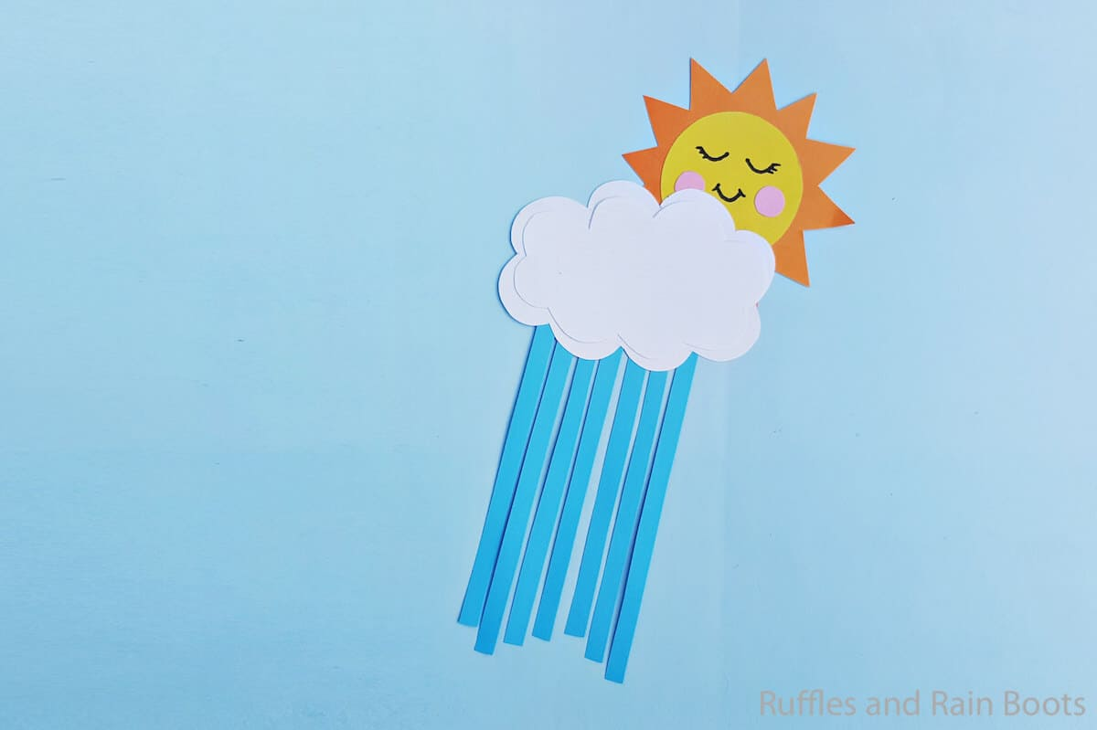 You'll need lots of cotton balls for this super cute rain cloud craft for kids from the kindergarten connection. Easy Sun And Clouds Craft For Kids With Free Pattern