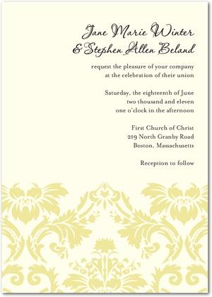 Yellow Wedding Invitation