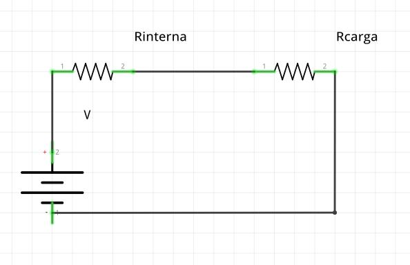 Circuito de una fuente de voltaje