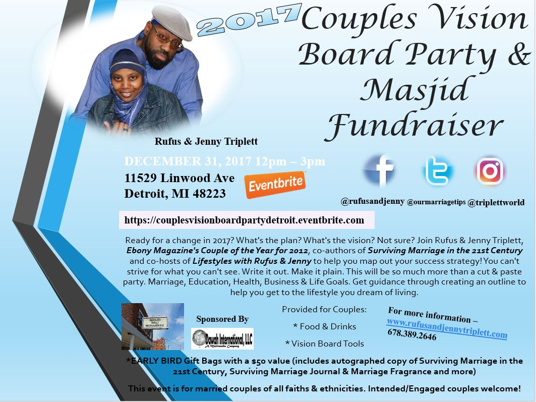 Couples Vision Board Party Amp Masjid Fundraiser