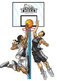 triple threat dunk block
