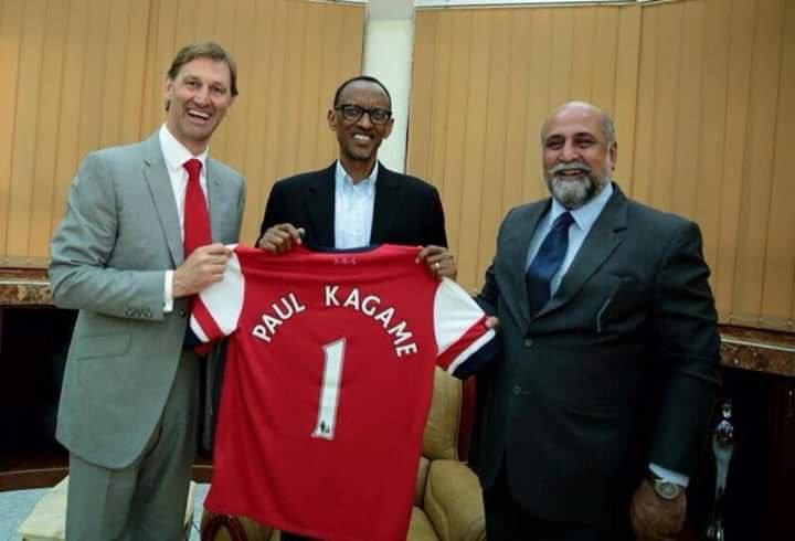 Kagame yanga AMAVUBI n'umupira w'amaguru mu Rwanda niyo mpamvu yihitiyemo Arsenal FC