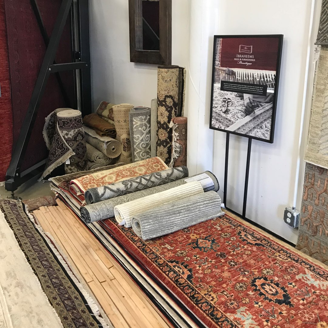 Ibraheems.com showroom rug samples