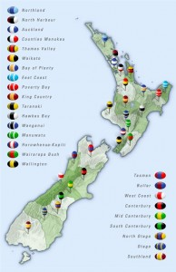 NZ Provincial Rugby Map