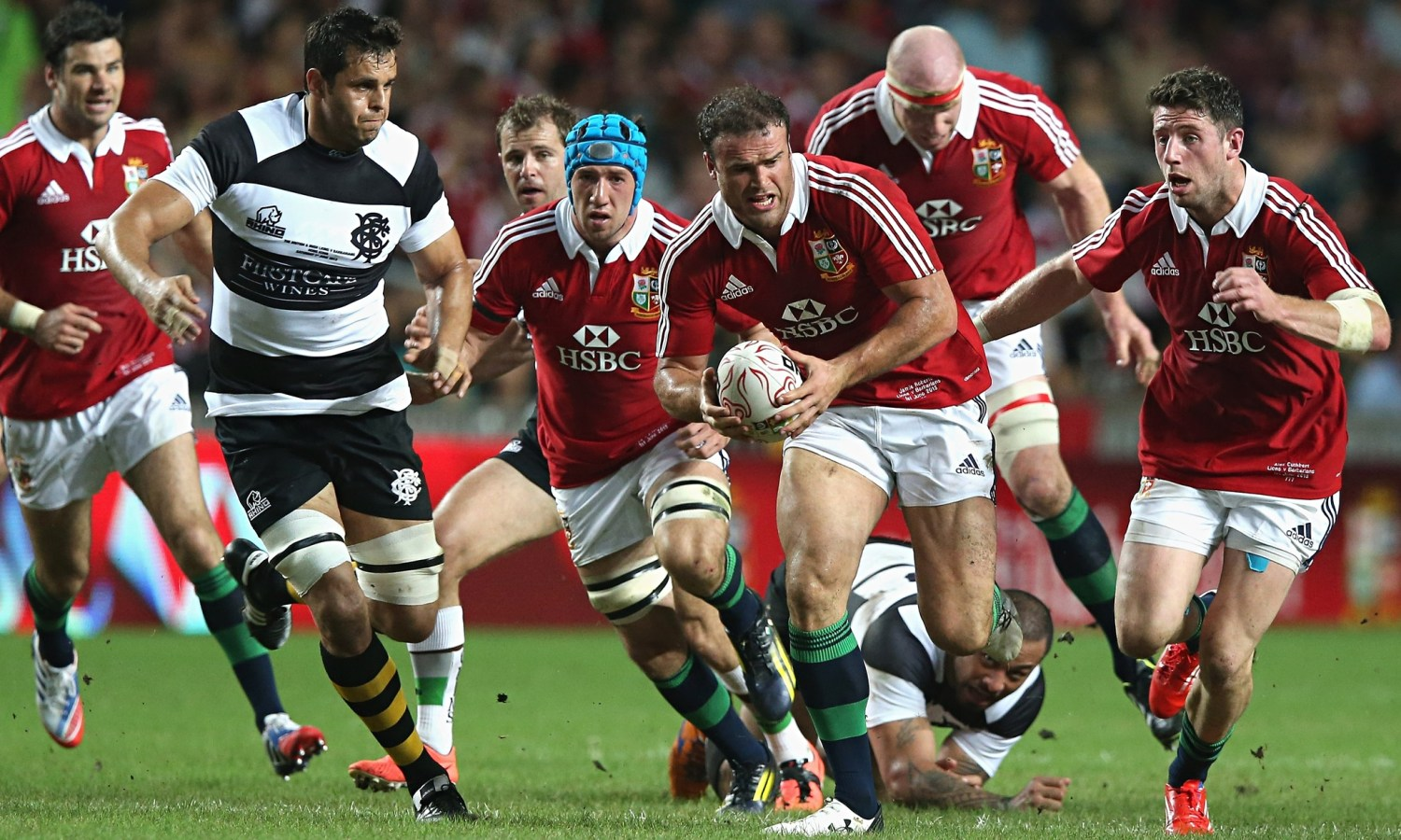 The British & Irish Lions played the Barbarians at Hong Kong Stadium en route to Australia in 2013
