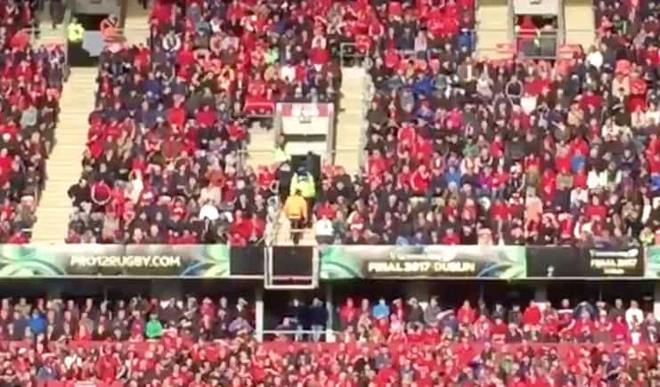 Watch: Munster Fan Removed By Gardaí After Abusing Dan Biggar During Kick