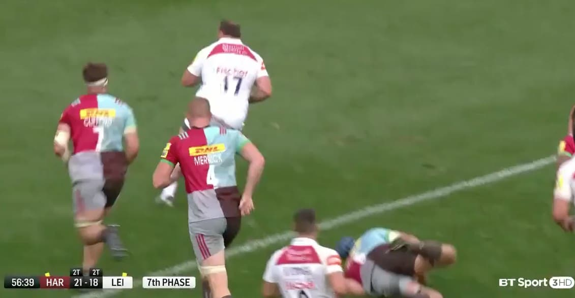 Watch: Mike Brown Gets Absolutely Skinned by Leicester Prop