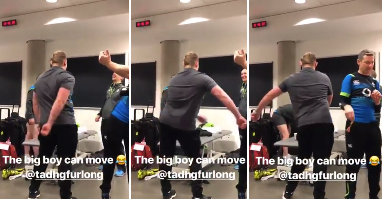 WATCH: Tadhg Furlong Has Been Showing Off His Dance Moves In Irish Camp